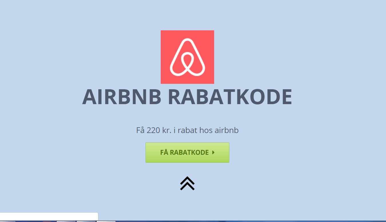 Tryk på knappen og få din airbnb rabatkode